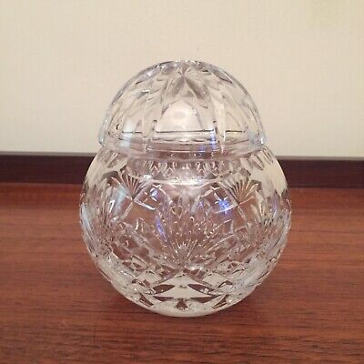 Vintage Crystal Lidded Pot / Bowl • 6£