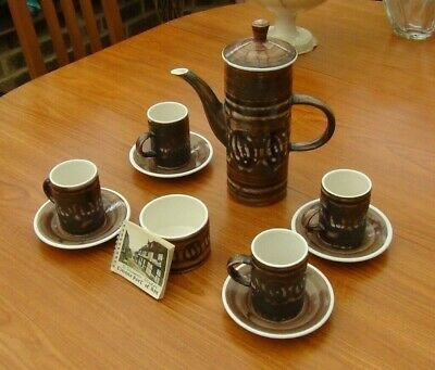Cinque Ports Pottery The Monastery Rye Coffee Pot, Sugar Bowls & 4 Cups/ Saucers • 28.95£
