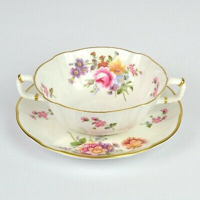 Royal Crown Derby Derby Posies Soup Coupe & Saucer • 17.99£
