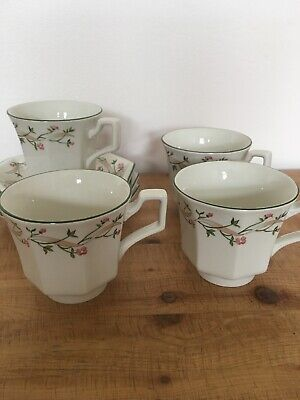 Johnson Brothers Eternal Beau Tea Cups And Saucers X 4 • 1.70£