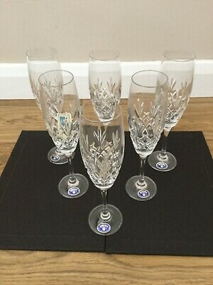 Set Of 6 Bohemia Fine Cut Lead Crystal Champagne Glasses Over 24% Pbo • 12.95£