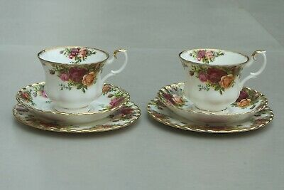 Royal Albert Old Country Roses Tea Trio: Cup, Saucer, Plate X2 (Pair) • 12£