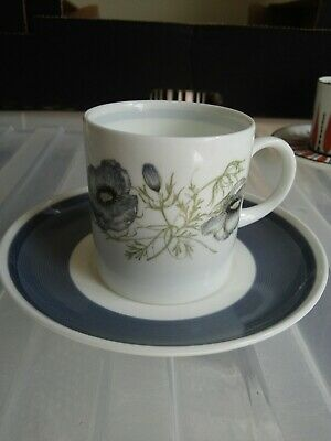 Wedgwood Glen Mist Susie Cooper Design Coffee Can Cup & Saucer Grey • 3£