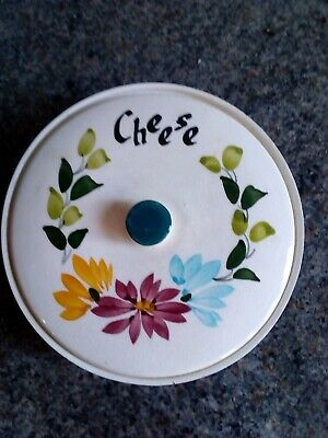 Vintage Toni Raymond Circular Lidded Cheese Triangle Dish Hand Painted  • 6£