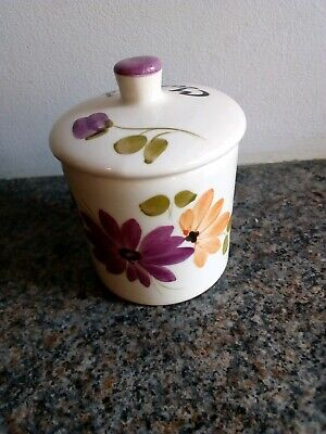 Toni Raymond Style Hand Painted Mustard Pot With Lid • 0.99£