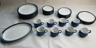 Denby Imperial Blue Replacements Plates Cups Platters. • 10.99£