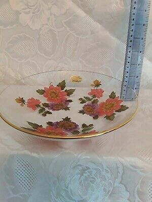 Vintage Chance Clear Glass Flowers Bowl/dish (J) • 7£