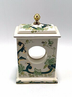 Masons Ironstone Chartreuse Hand Painted Carriage Clock Case  No Clock Face • 14.95£