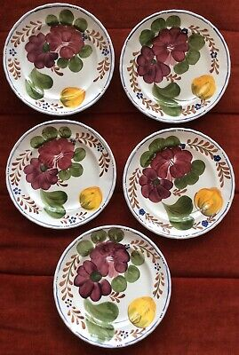 5 X Belle Fiori Wood & Sons Hand Painted Side Plates • 17£