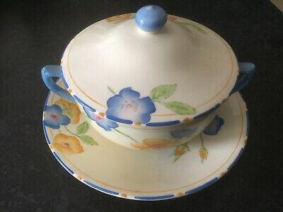 Crown Ducal Rosemary Lidded Consume Bowl And Saucer • 16.99£