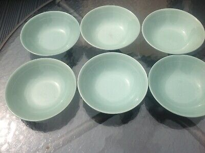 6x Woods Ware Beryl Soup/ Cereal Bowls • 9.99£