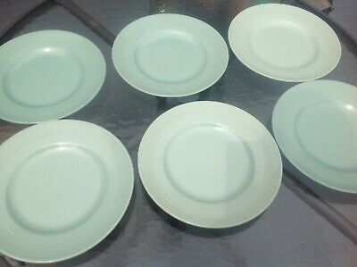 6x Woods Ware Beryl Green 10 Inch Dinner Plates. • 9.99£