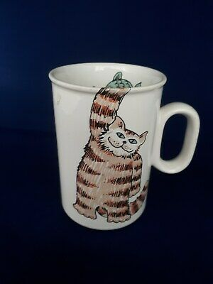 Hornsea Pottery Animal Mug With Cat And Fish Designed By John Clappison • 5.70£