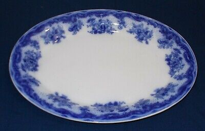 Large Antique Victorian Albion Pottery Flow Blue Platter  Ophir  Pattern • 17.50£