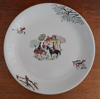 Alfred Meakin 10  Dinner Plate TALLY HO! 1950s • 9.99£