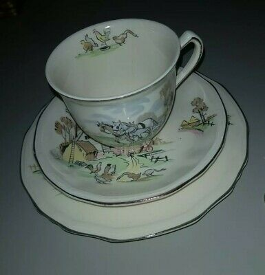 Alfred Meakin Down On The Farm Tea Cup Side Plate Trio • 10£