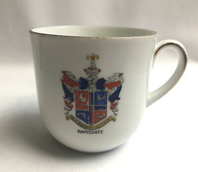 Vintage Crested China Ramsgate Cup Bavaria • 19£
