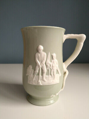 Spode Large Fortuna Sporting Golf And Cricket Tankard C.1955 • 19.99£