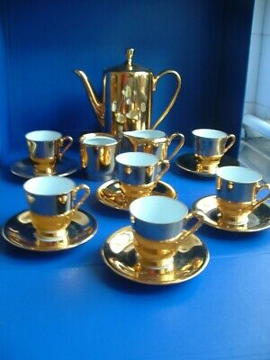 Foreign 15pc Gold Coffee Set • 7.99£