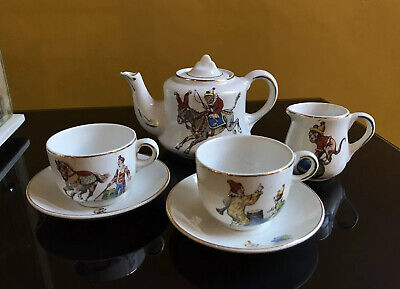 Vintage British China Child's Part Tea Set - Circus Characters (Nursery Ware) • 59£