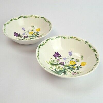 2 X RHS The Garden By Lilian Snelling Queens Cereal / Dessert Bowls • 16.99£