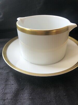 Thomas Germany GOLD BAND GRAVY BOAT/SAUCE BOAT & STAND • 9.99£