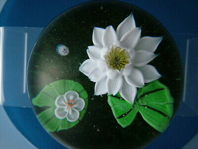 Beautiful Ltd. Ed. Baccarat 1977 Water Lillies Paperweight • 340£