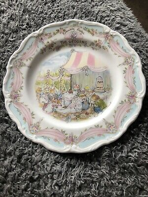 Royal Doulton Brambly Hedge  Series THE WEDDING Plate • 5.65£