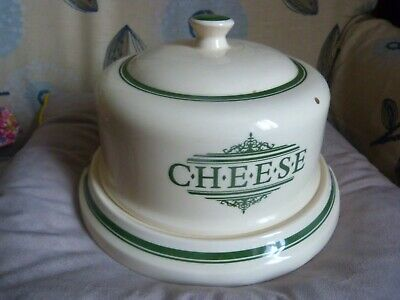VICTORIAN POTTERY 1869 LARGE CHEESE DISH & DOMED LID A1 Excellent Condition • 24.99£