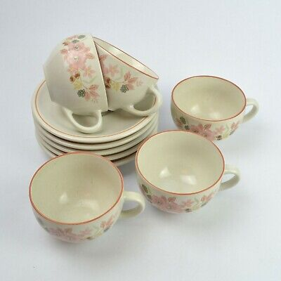 Boots Hedge Rose 5 X Coffee Cups & Saucers • 19.99£
