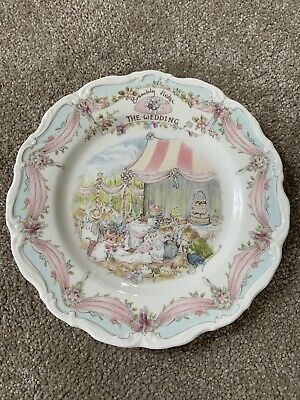 FIRST QUALITY ROYAL DOULTON BRAMBLY HEDGE 'THE WEDDING' PLATE C.1987 • 8.50£