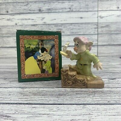 Royal Doulton Figurine Snow White And The Seven Dwarfs Dopey By Candlelight • 24.99£