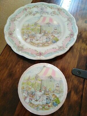 Royal Doulton Brambly Hedge  The Wedding  Plate And Trinket Box • 1.99£