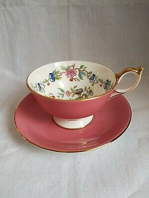 Aynsley Tea Cup And Saucer • 17£