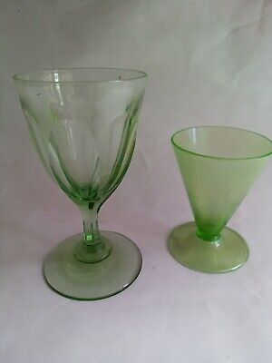 Uranium Glass Two Perfect Condition • 9.99£