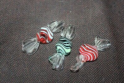Murano Glass Sweets X 3 - Superb Condition • 3.50£