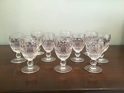 10 Waterford Crystal White Wine Glasses. Colleen Collection. Used Not Damaged. • 122£