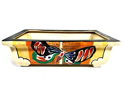 Art Deco Clarice Cliff Butterfly Shape 347 Footed Centrepiece Bowl / Planter • 1,349£