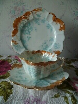 Vintage / Antique Wileman China Trio Tea Cup Saucer Plate Empire Shape 9108 8106 • 10£