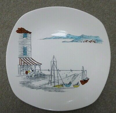 Midwinter 10  Dinner Plate CANNES By Hugh Casson #3 • 8.99£