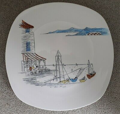 Midwinter 10  Dinner Plate CANNES By Hugh Casson #2 • 7.99£