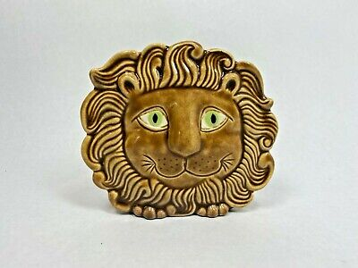 Vintage Anthropomorphic Charming Lion Wall Pocket ~ 70's Porcelain • 45.99£
