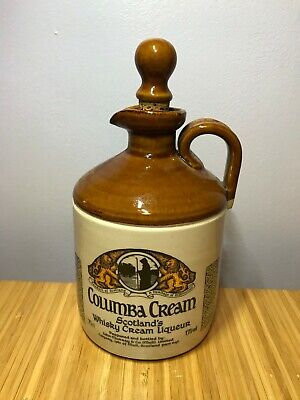 Buchan Thistle Jar - Columba Cream Whisky Bottle & Stopper - Scotland Vintage • 29£