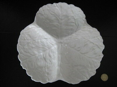 Coalport White Countryware Large Trefoil Hors D'oeuvres Dish 3 Section Wedgwood • 44.99£