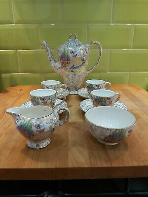 Vintage Empire Ware Crinoline Lady Coffee Set 4 Settings Sugar Bowl & Creamer • 50£
