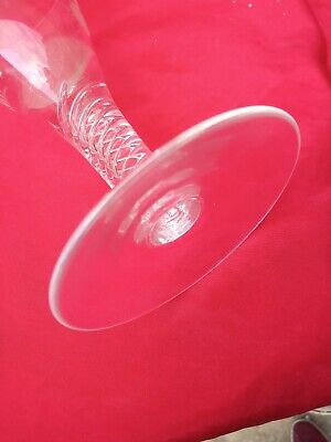 Twisted  Large Wine Glass With  Etching   Superb.  • 40£