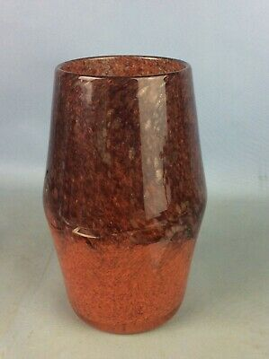 Vintage Strathearn Scottish Art Glass Vase Mixed Colours Approx 7.5  Tall • 74£