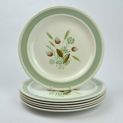 6 X Vintage Woods Ware Clovelly Dinner Plates • 19.99£