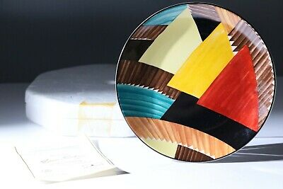 Susie Cooper Wedgewood Plate 'Pyramids' Limited Numbered Production. • 25£