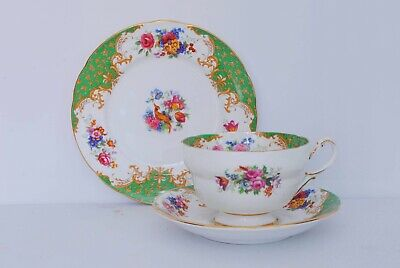 Paragon Rockingham Green Cup, Saucer, Side Plate - GREAT COND -NEXT DAY DISPATCH • 14.99£